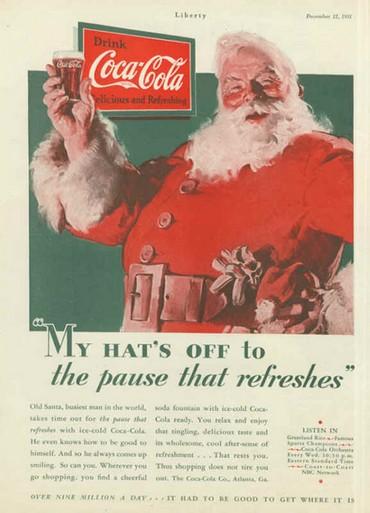 Babbo Natale Coca Cola foto