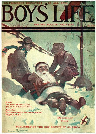 Babbo Natale immagini anni 1913