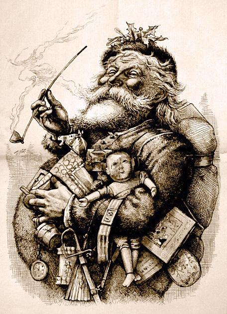 Babbo Natale immagini anni 1800