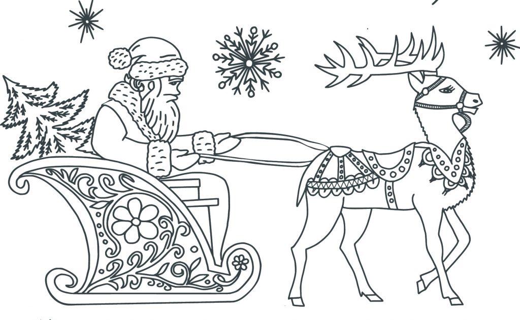 Foto Di Natale Da Colorare E Stampare.Disegni Di Natale Da Colorare Bellissimi Babbo Natale