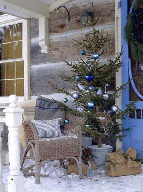 Albero di Natale azzurro e blu