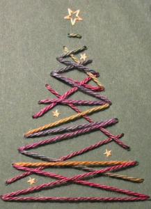biglietto di Natale cucito