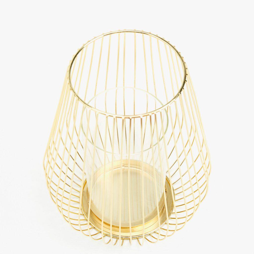 Lanterna in metallo dorato
