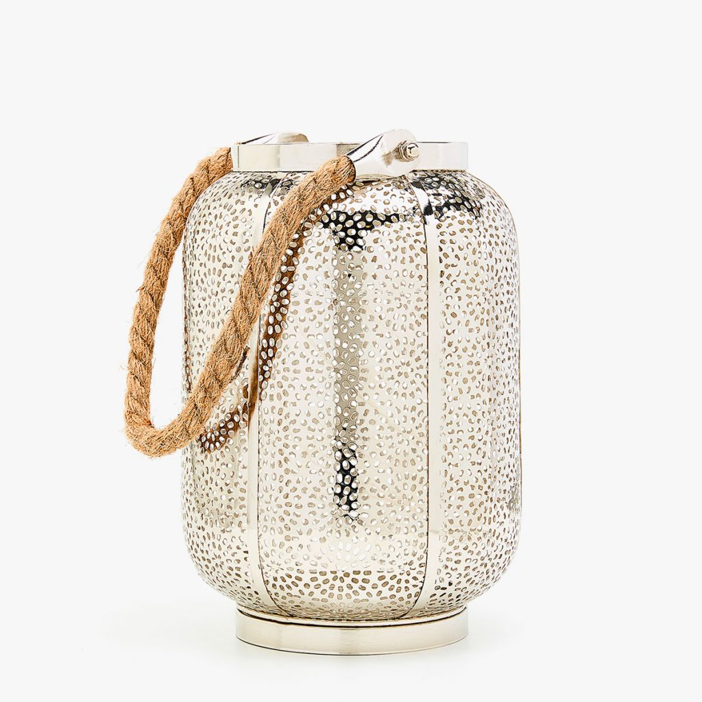 Lanterna metallica con manico