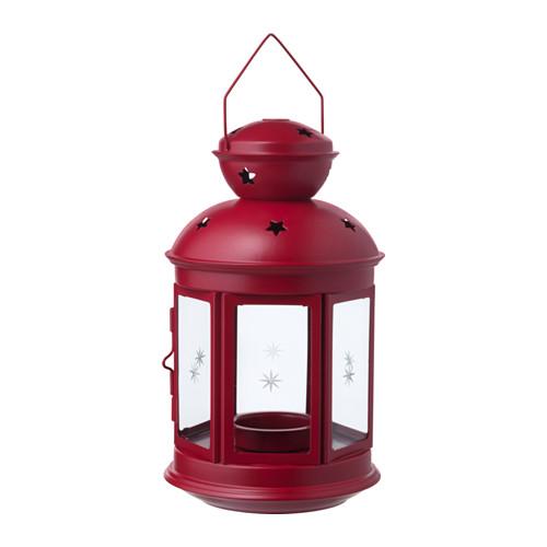 Lanterna in metallo rosso