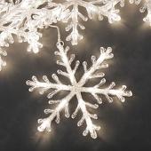 luce con cristalli di ghiaccio