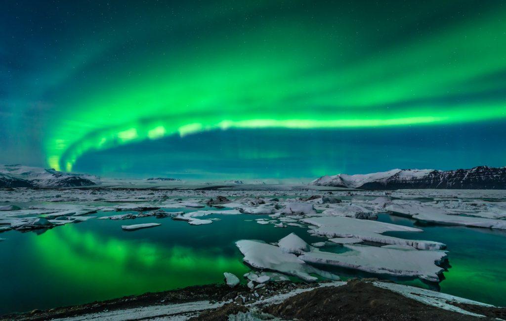 Aurora boreale Jokulsarlon