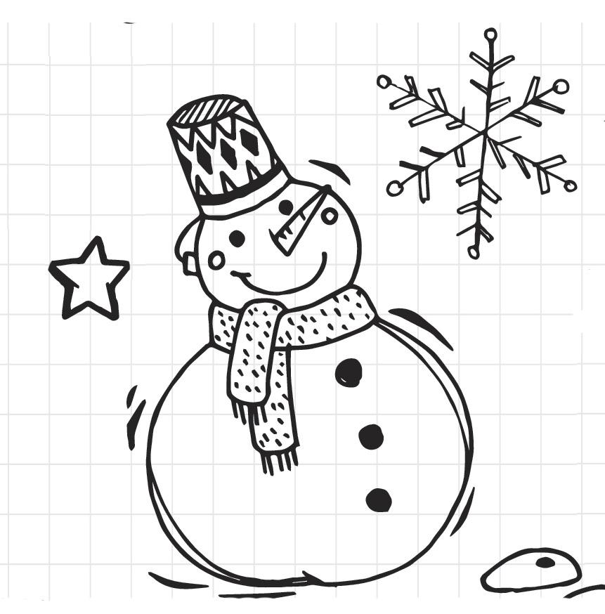 Disegno pupazzo di neve
