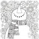 Pupazzo di neve: disegno e pupazzo di neve da colorare