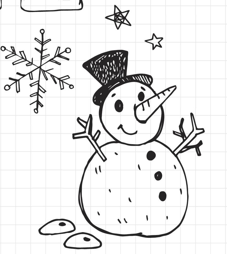 Pupazzo di neve disegno