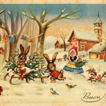 immagini natalizie vintage 1956