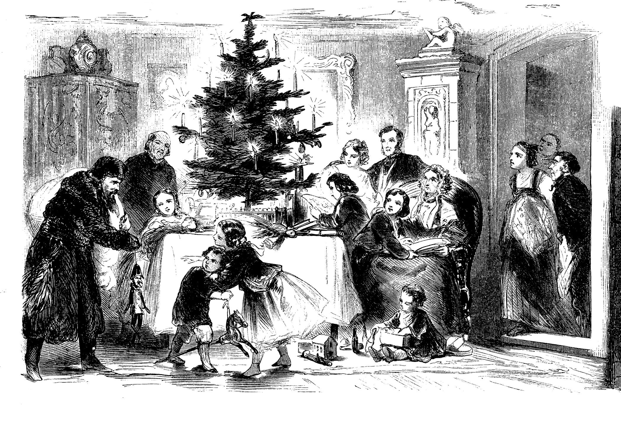 Albero di Natale storia illustrazione